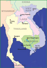 Map Southeast Asia