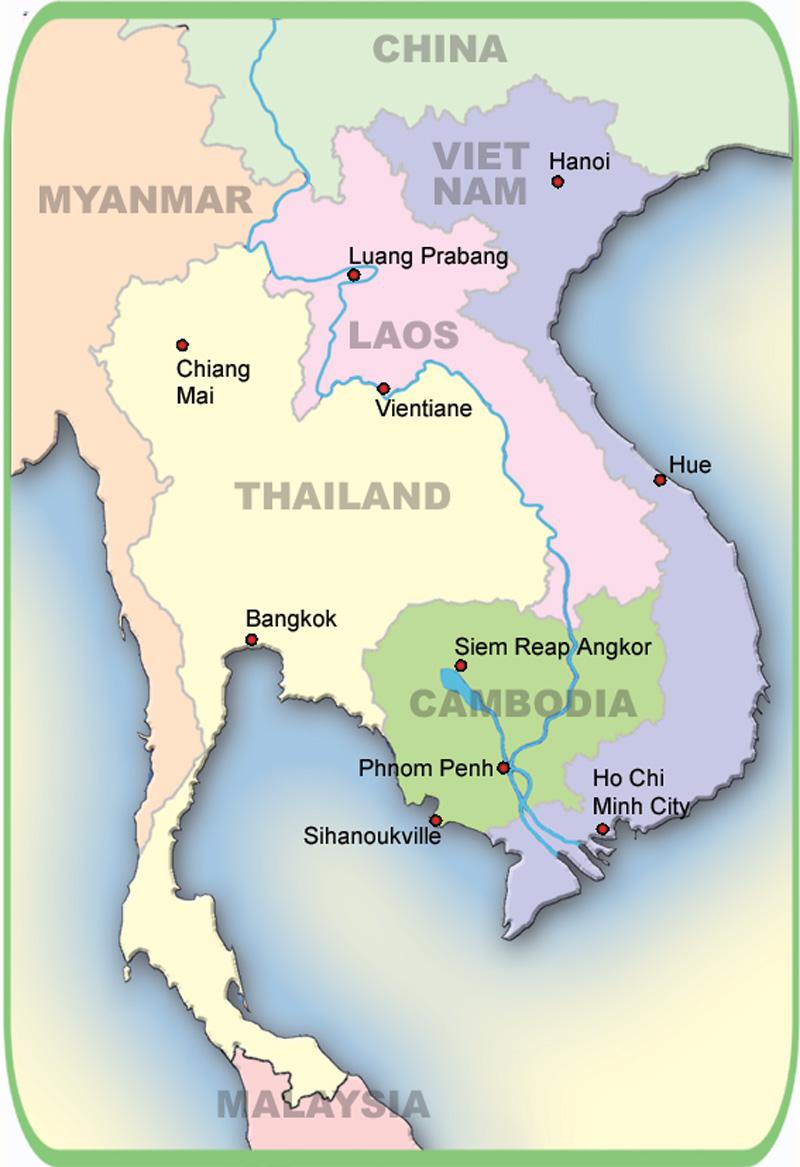 100 Printable Travel Maps Of Cambodia