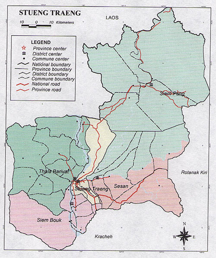 Stung Treng Cambodia  City pictures : map province stung treng cambodia 800