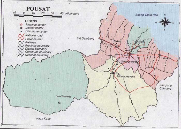 Pursat Cambodia  city photos : Pursat Province Map 2003 | Cambodia