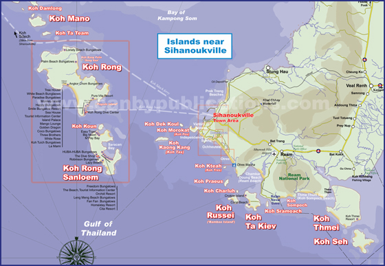 Koh Rong Cambodia Map Islands of Cambodia | Guide to Koh Rong, Koh Rong Sanloem, Koh  Koh Rong Cambodia Map