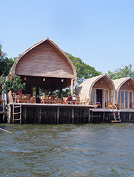 Bamboo Bungalow Range 20 35 Private Bungalows With En Suite A C And Wifi Creatively Designed In Wood Stunning Views Of The River From Restaurant