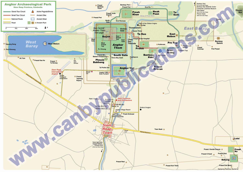 Angkor Archeological Park Main Park Area