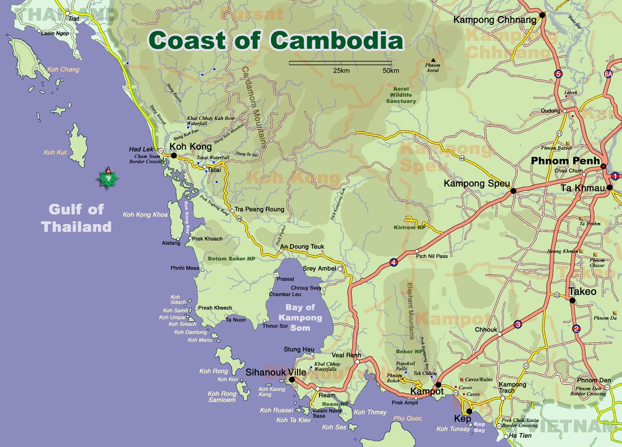 Of Cambodia Map - Portugal map coast