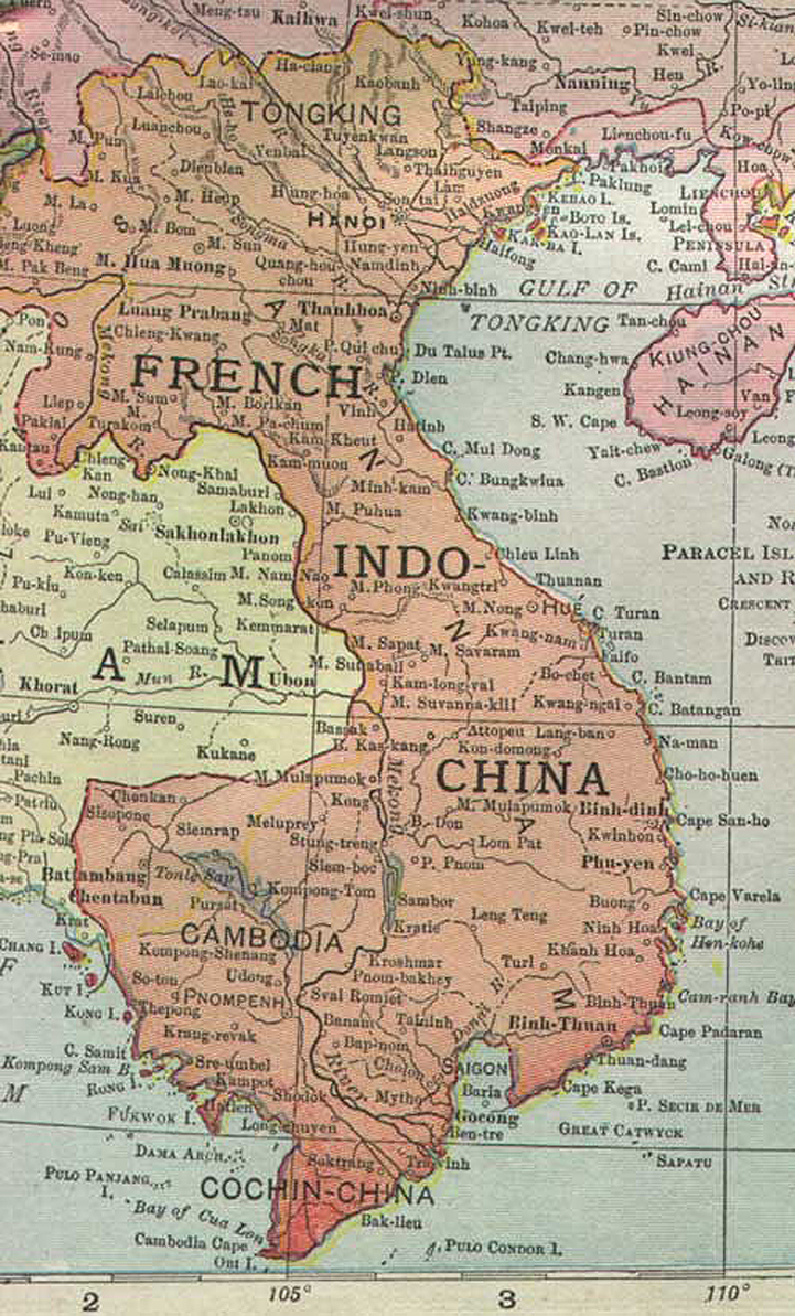 French Indochina 1913 Map