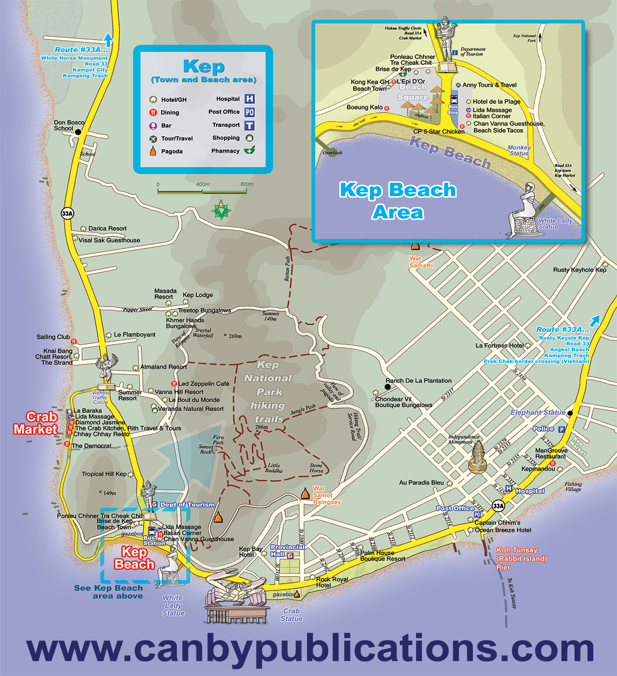Kep Cambodia Map - Cambodia visa for us citizens dc embassy map