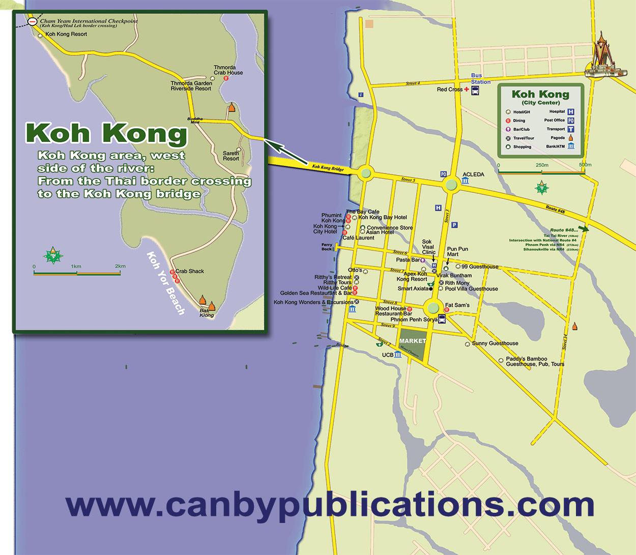 Koh Kong Cambodia Map