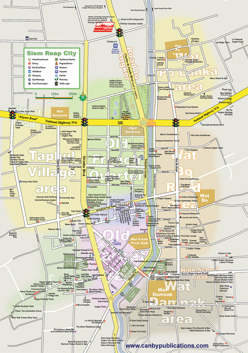 Map - Siem Reap Cambodia
