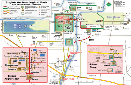 Angkor Wat Map Angkor Temple Guide Index | Siem Reap Cambodia Angkor Wat Map