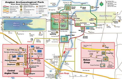 Angkor Wat Karte.Angkor Temple Guide Index Siem Reap Cambodia